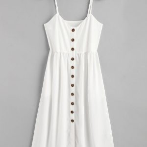 Cami Button Up Casual Dress