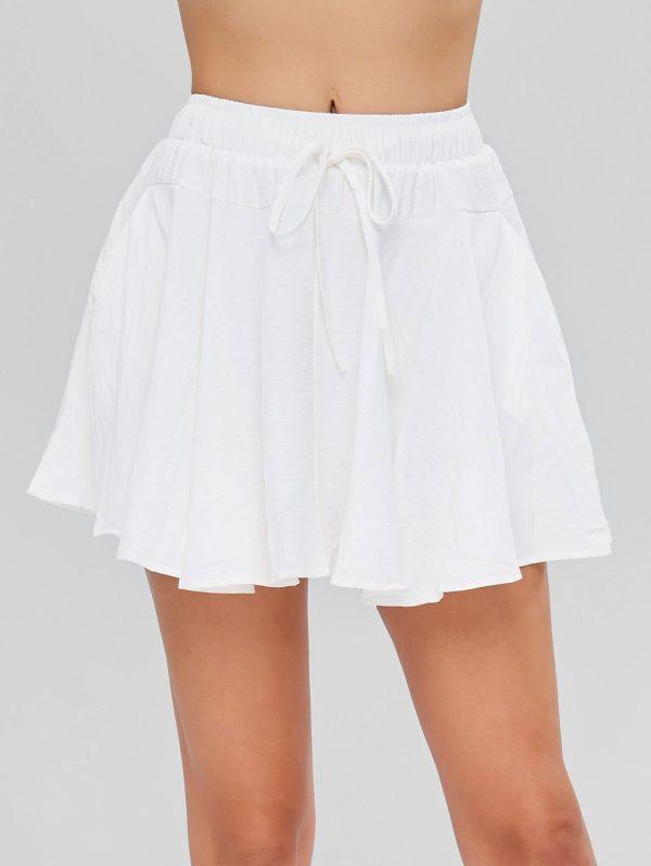 Drawstring Skater Skirt