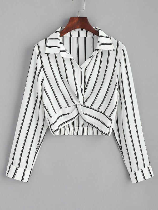 Striped Twisted Shirt